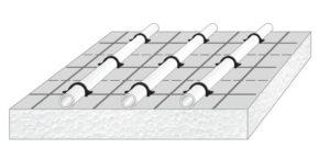 Kreilac - Tackerplatte - Fußbodenheizung