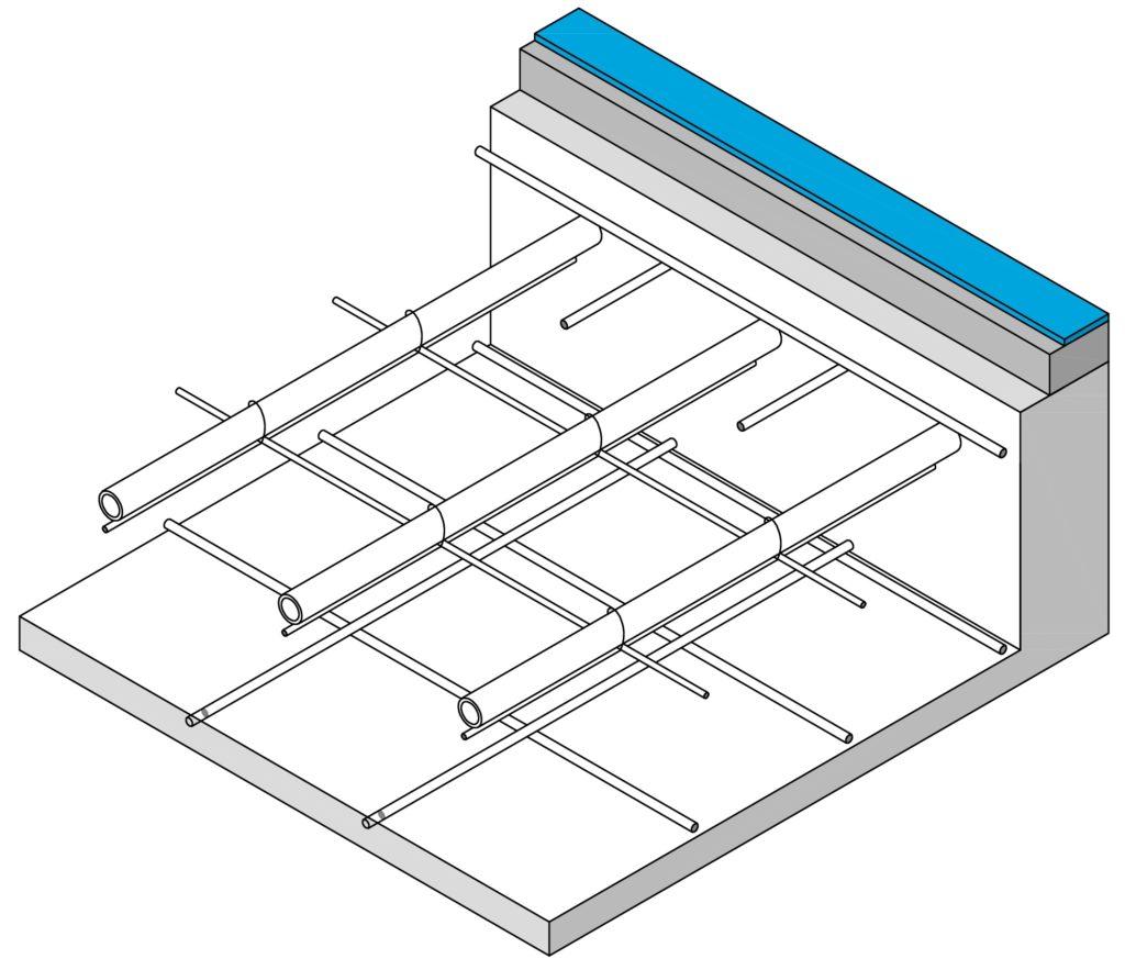 Schnitt BKT Betonkernaktivierung Betonkerntemperierung